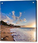 This Is Why They Call It Sunset Beach Acrylic Print