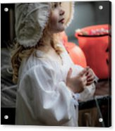 This Little Lady Gives Halloween Candy 5962vg Acrylic Print