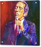 This Song Is For You - Andy Williams Acrylic Print by David Lloyd Glover