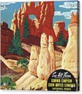 This Summer - Visit Bryce Canyon National Par, Utah, Usa - Retro Travel Poster - Vintage Poster Acrylic Print
