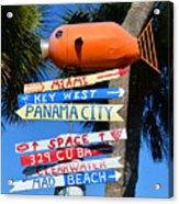 This Way To Florida Acrylic Print
