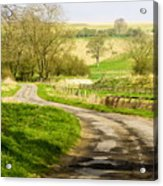 Thixendale Road  North Yorkshire Acrylic Print