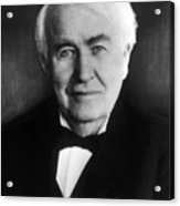 Thomas Alva Edison 1847-1931 Acrylic Print by Everett