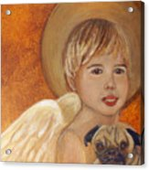 Thomas And Bentley Little Angel Of Friendship Acrylic Print by The Art With A Heart By Charlotte Phillips