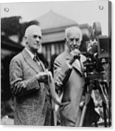Thomas Edison 1847-1931 And George Acrylic Print