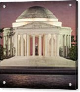 Thomas Jefferson Memorial At Sunset Artwork Acrylic Print