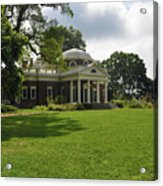 Thomas Jefferson's Monticello Acrylic Print by Bill Cannon
