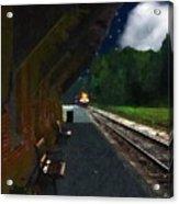 Thomaston Train At Night Acrylic Print