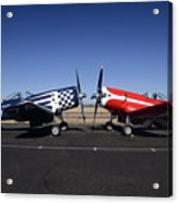 Thompson Trophy Goodyear F2g Corsair Reunion Falcon Field Arizona December 27 2011 Acrylic Print by Brian Lockett