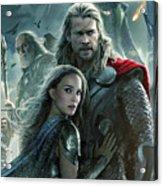 Thor 2 The Dark World 2013 Acrylic Print