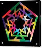 Thoreau Star Acrylic Print by Eric Edelman