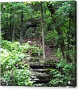 Thorncrown Chapel Setting In The Ozark Mountains Acrylic Print