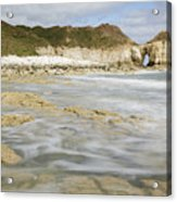 Thornwick Bay At Flamborough Acrylic Print