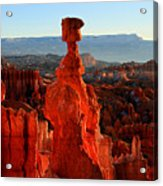 Thor's Hammer In Bryce Canyon At Sunrise Acrylic Print