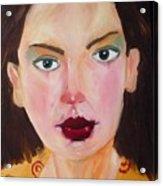 Those Lips Those Eyes Acrylic Print