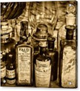 Those Old Apothecary Bottles In Sepia Acrylic Print