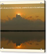 Thought For The Day Acrylic Print