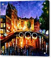 Thoughtful Amsterdam Acrylic Print