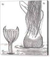 Thoughtful Mermaid Acrylic Print