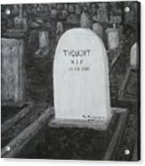 Thoughts  Silent As The Grave Acrylic Print