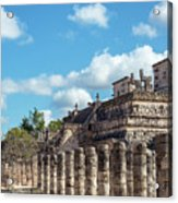 Thousand Columns And Temple Of The Warriors Acrylic Print