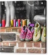 Thread Bare Feet Acrylic Print