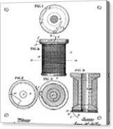 Thread Spool Patent 1877  Acrylic Print