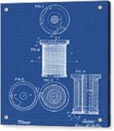 Thread Spool Patent 1877 Blueprint Acrylic Print