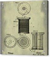 Thread Spool Patent 1877 Weathered Acrylic Print