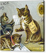 Thread Trade Card, 1880 Acrylic Print