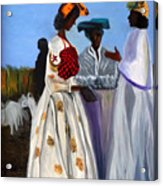Three African Women Acrylic Print
