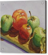 Three Apples Two Tomatoes Acrylic Print