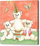 Three Bears Ready For The Party Acrylic Print