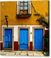 Three Blue Doors 2 Acrylic Print