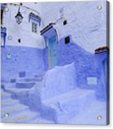 Three Blue Doors In Chefchaouen  Acrylic Print