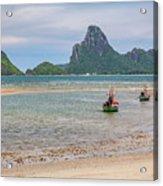 Three Boats Thailand Acrylic Print