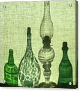 Three Bottles And A Lamp Acrylic Print