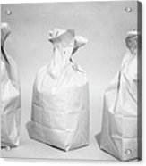 Three Brown Paper Lunch Bags Acrylic Print