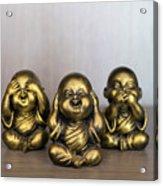 Three Buddha Statue Acrylic Print