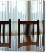 Three Chairs Reflection Acrylic Print