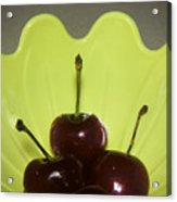 Three Cherries In Profile Acrylic Print