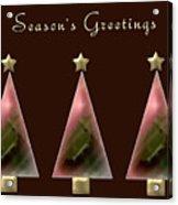 Three Christmas Trees Acrylic Print