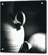 Three Clay Jars 3 Acrylic Print