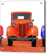 Three Colored Cars Acrylic Print