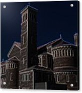 Three Crosses In The Moon Light Acrylic Print