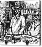 Three Diners Acrylic Print