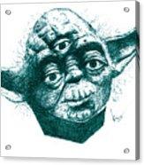 Three Eyed Yoda Acrylic Print