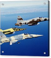 Three F-5e Tiger II Fighter Aircraft Acrylic Print
