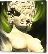 Three Faced Statue Acrylic Print