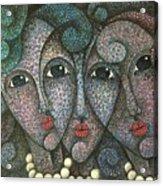 Three Faces  2015 Acrylic Print